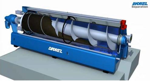 Шнековый пресс фирмы Андритц (Andritz) с открытым кожухом