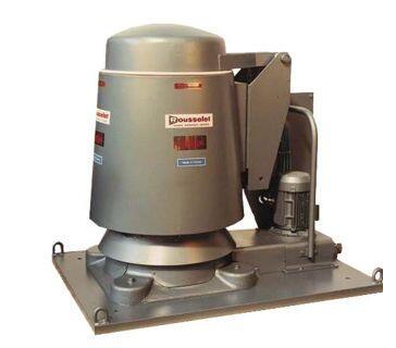 1) Центробежный гидроэкстрактор RC KG со съёмным барабаном для гальванизации